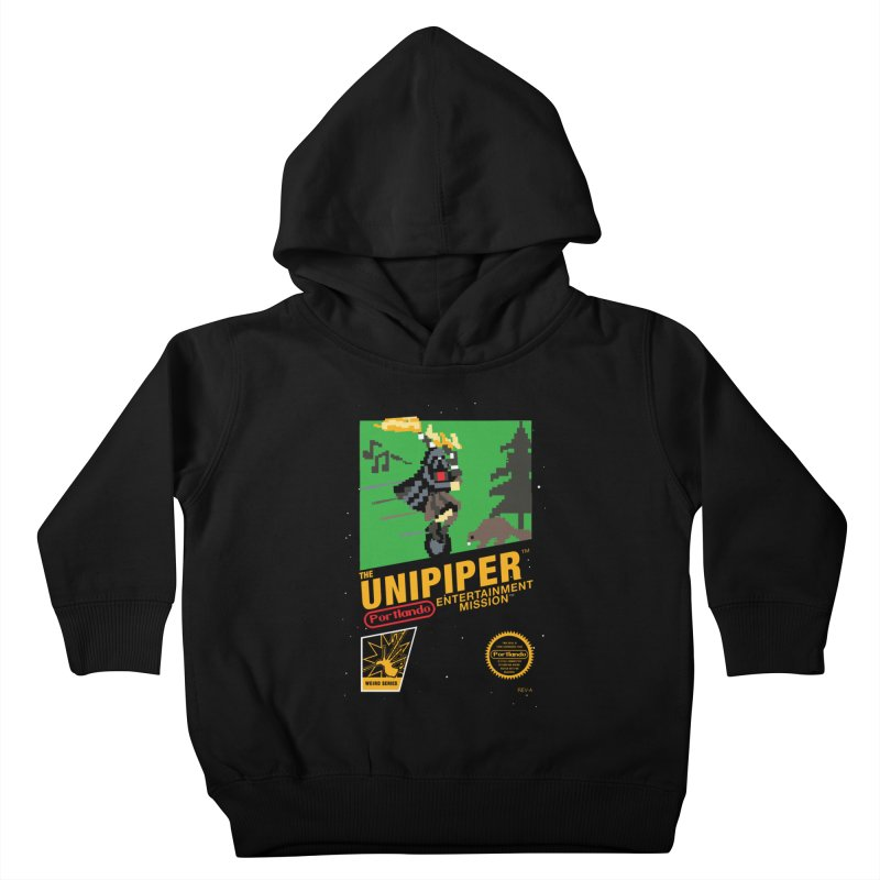 8-bit Retro Unipiper Kids Toddler Pullover Hoody by The Official Unipiper Shop!