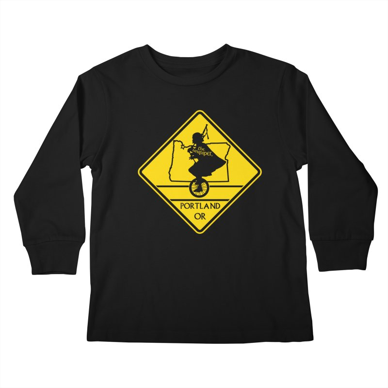 Unipiper Crossing Kids Longsleeve T-Shirt by The Official Unipiper Shop!