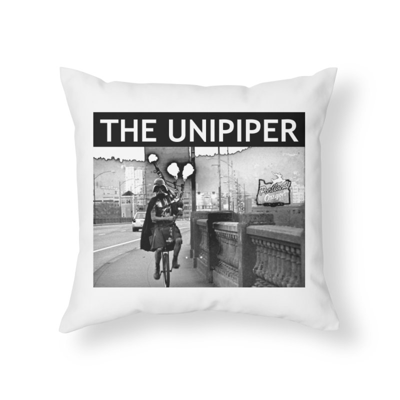 Welcome to Portland Home Throw Pillow by The Official Unipiper Shop!