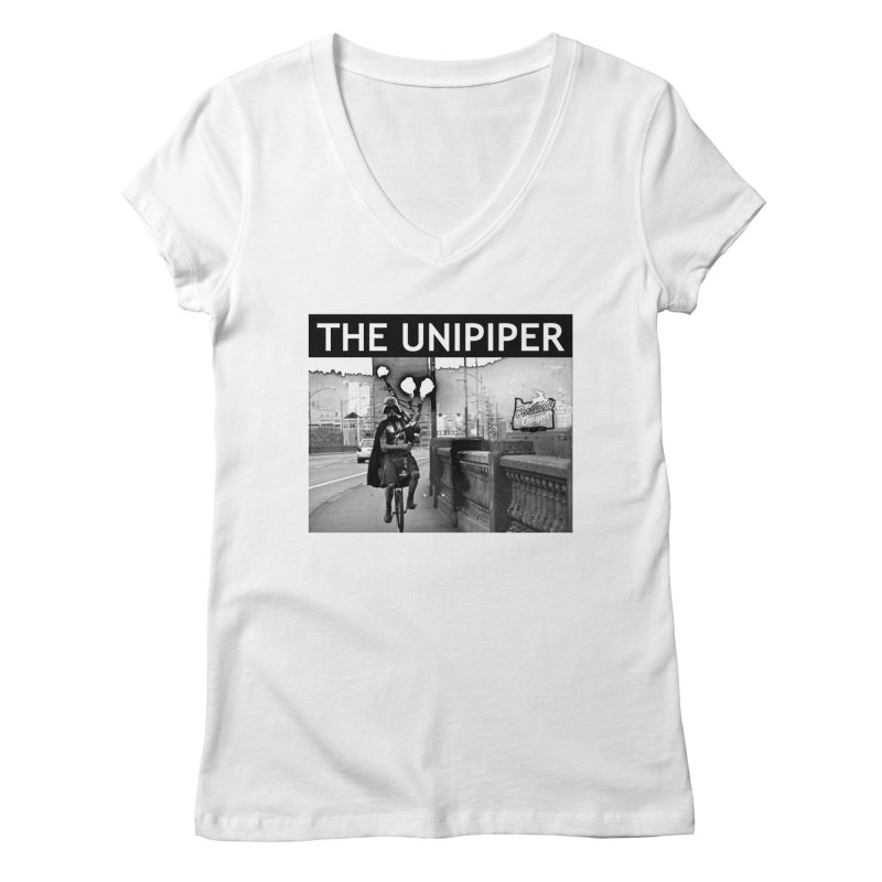 Welcome to Portland Women's V-Neck by The Official Unipiper Shop!