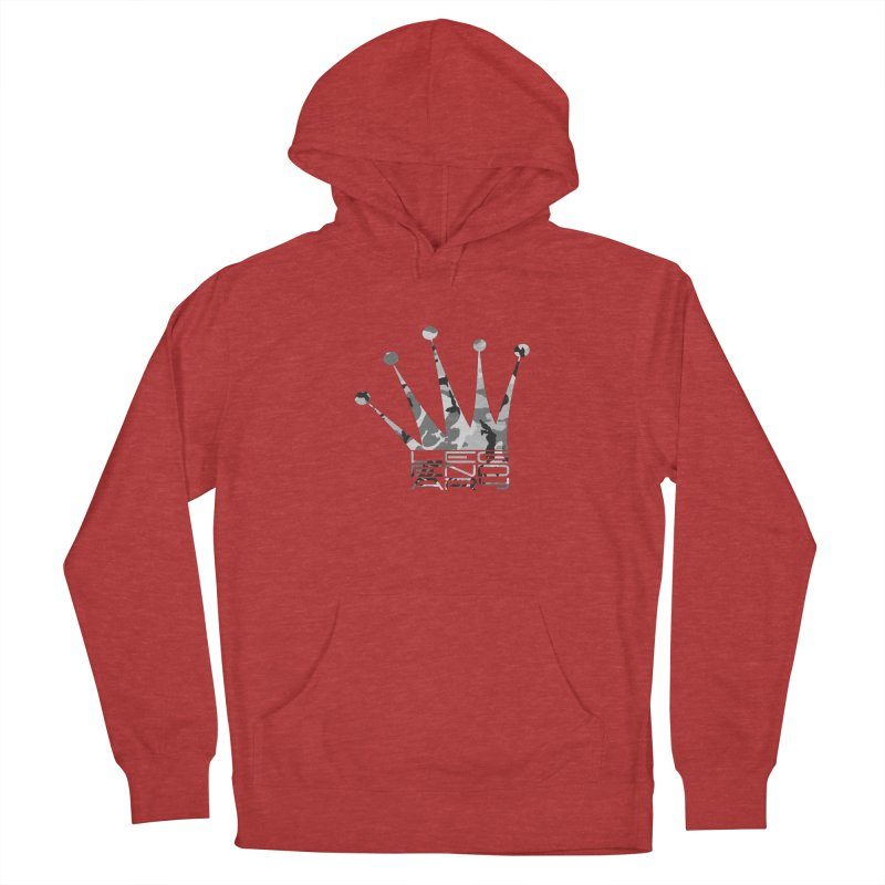 Legendary Crown - Snow Camo Edition Men's French Terry Pullover Hoody by uniquego's Artist Shop