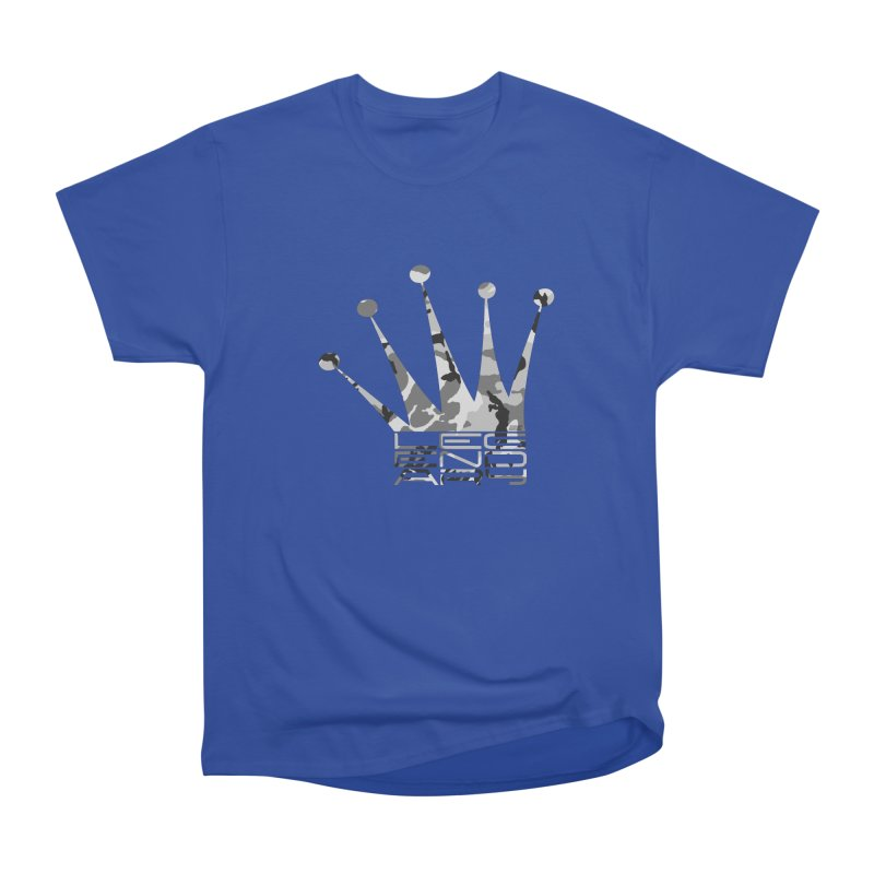 Legendary Crown - Snow Camo Edition Women's Heavyweight Unisex T-Shirt by uniquego's Artist Shop