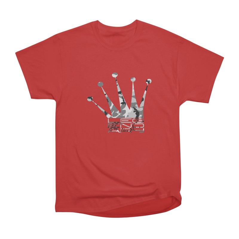 Legendary Crown - Snow Camo Edition Women's Heavyweight Unisex T-Shirt by uniquego's Artist Shop