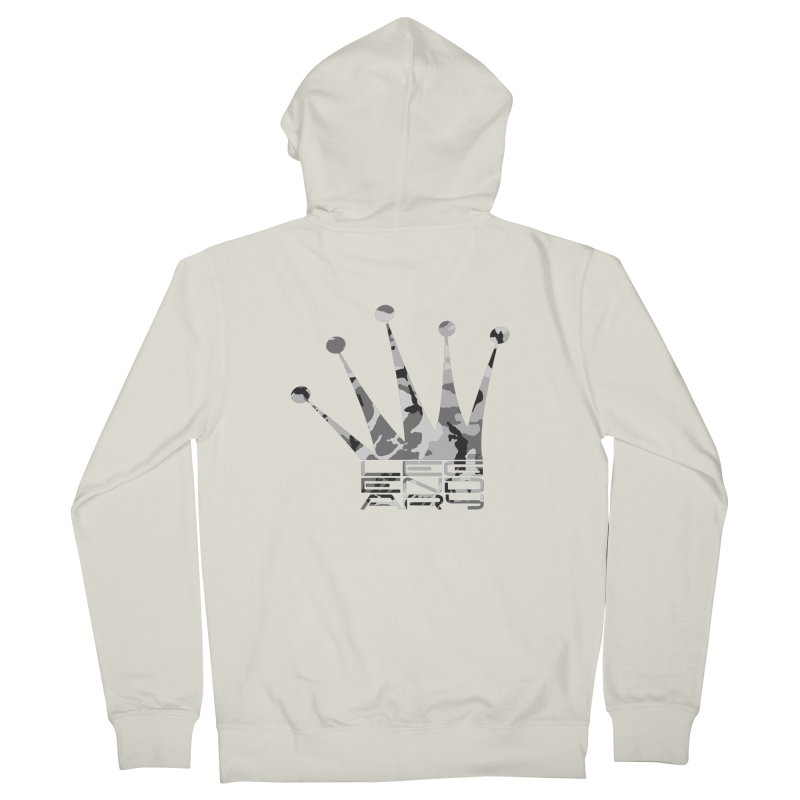 Legendary Crown - Snow Camo Edition Women's French Terry Zip-Up Hoody by uniquego's Artist Shop