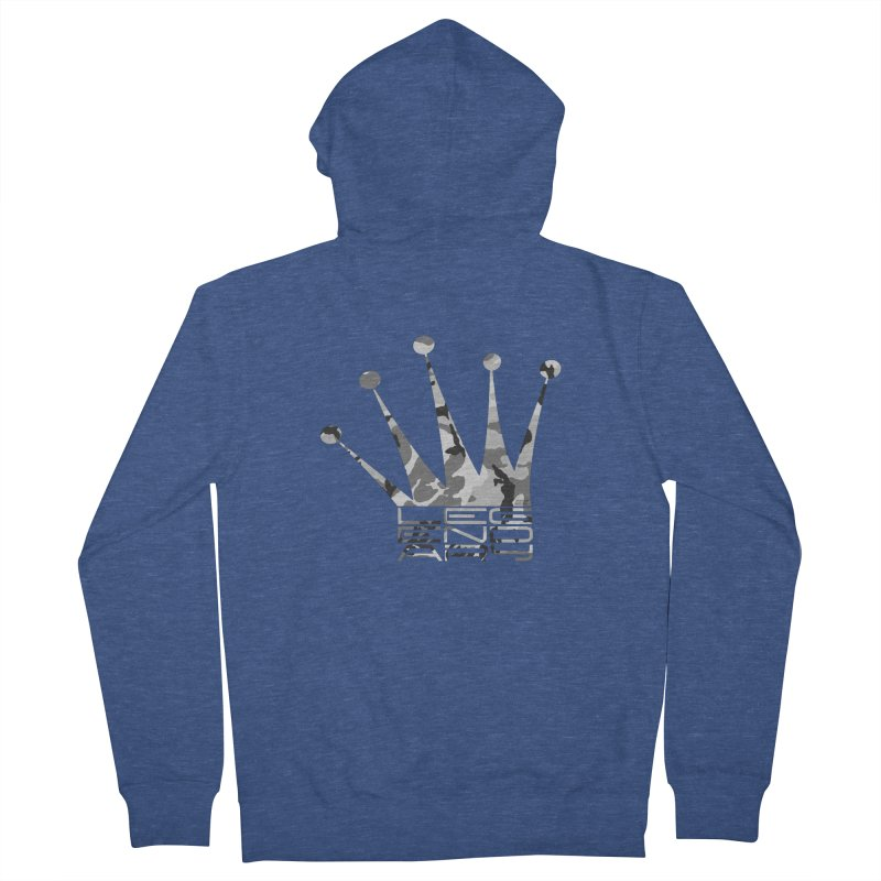 Legendary Crown - Snow Camo Edition Men's French Terry Zip-Up Hoody by uniquego's Artist Shop