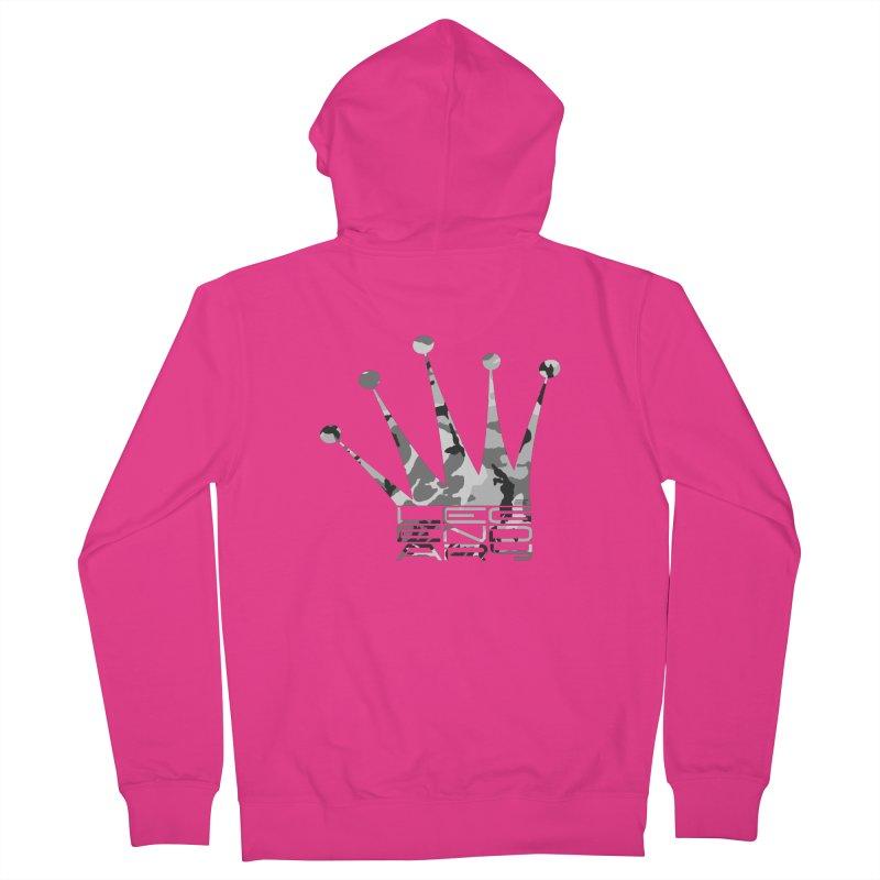 Legendary Crown - Snow Camo Edition Men's Zip-Up Hoody by uniquego's Artist Shop