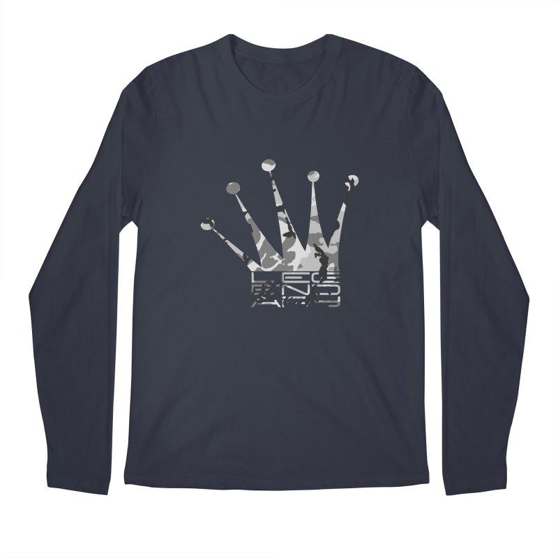 Legendary Crown - Snow Camo Edition Men's Longsleeve T-Shirt by uniquego's Artist Shop