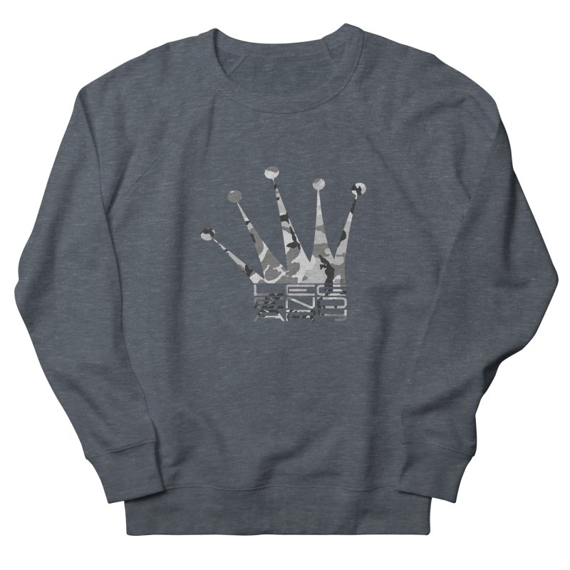 Legendary Crown - Snow Camo Edition Men's French Terry Sweatshirt by uniquego's Artist Shop
