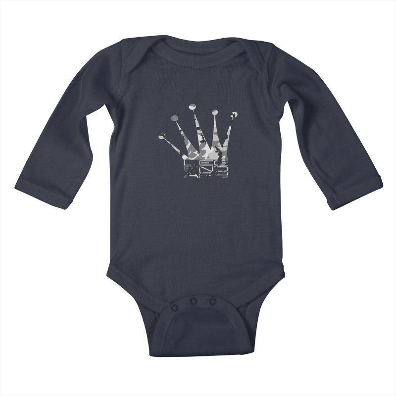Legendary Crown - Snow Camo Edition Kids Baby Longsleeve Bodysuit by uniquego's Artist Shop