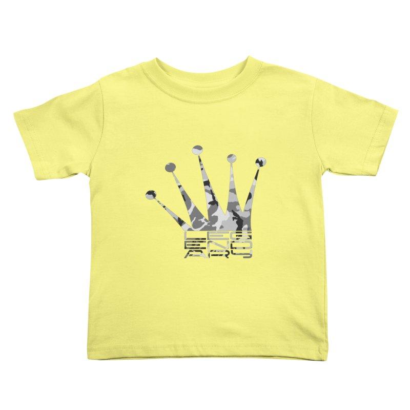 Legendary Crown - Snow Camo Edition Kids Toddler T-Shirt by uniquego's Artist Shop