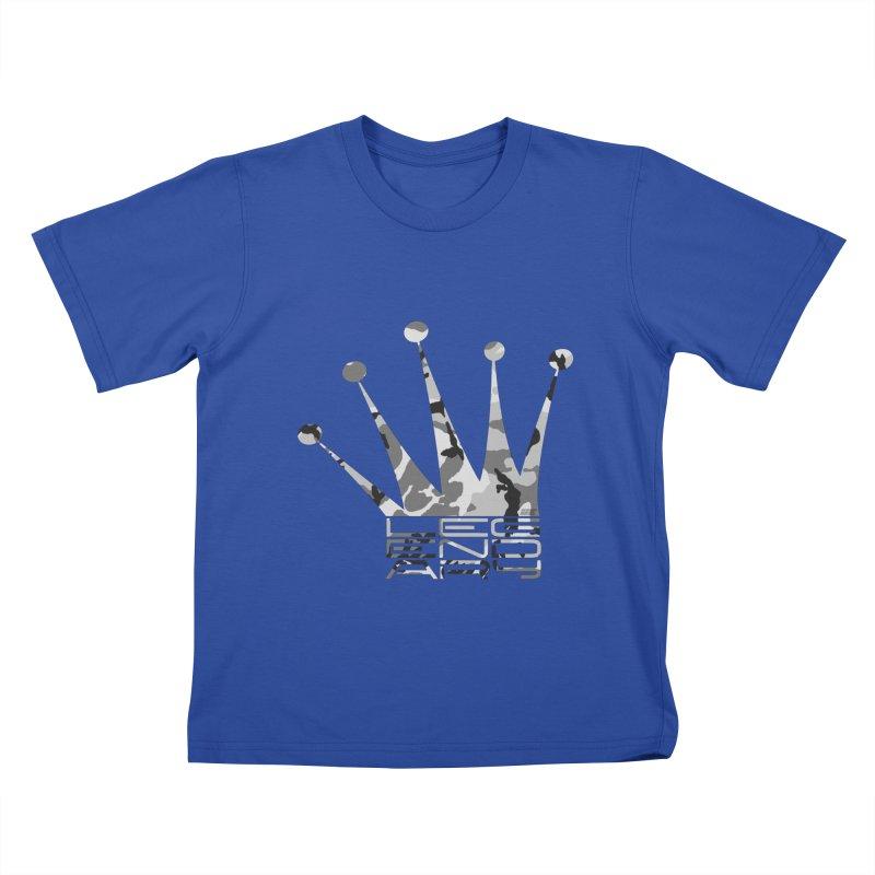 Legendary Crown - Snow Camo Edition Kids T-Shirt by uniquego's Artist Shop