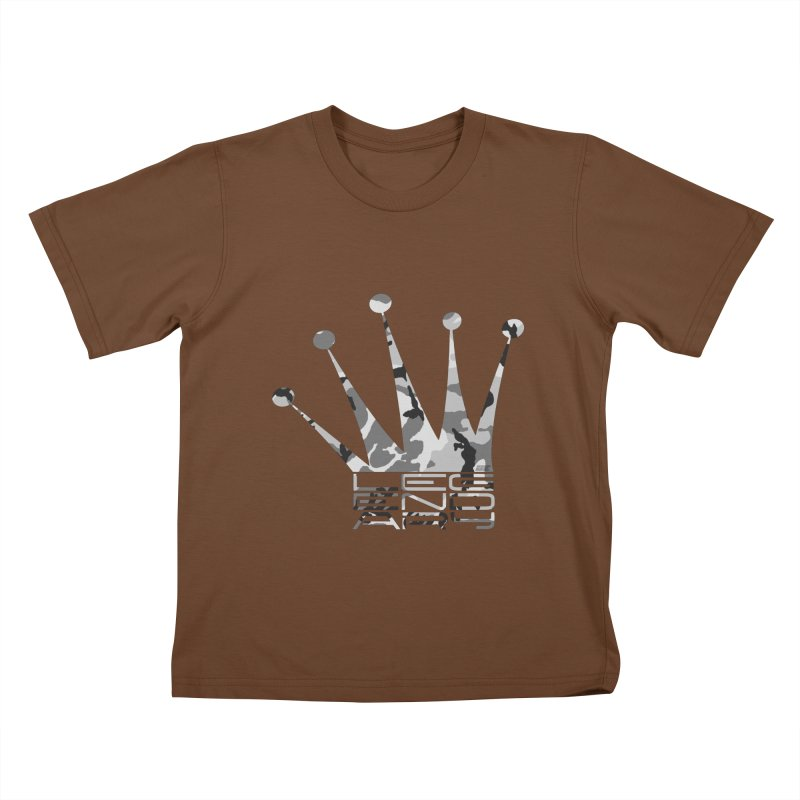 Legendary Crown - Snow Camo Edition Kids T-Shirt by uniquego's Artist Shop