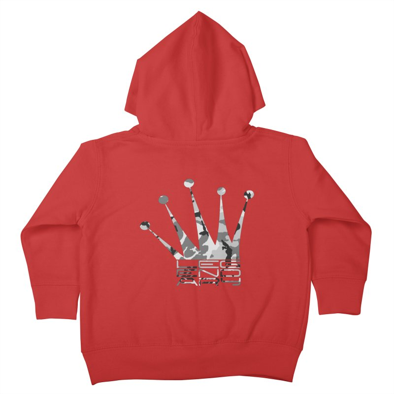Legendary Crown - Snow Camo Edition Kids Toddler Zip-Up Hoody by uniquego's Artist Shop