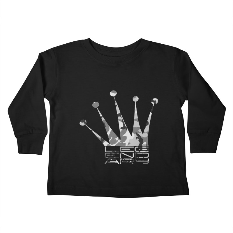 Legendary Crown - Snow Camo Edition Kids Toddler Longsleeve T-Shirt by uniquego's Artist Shop