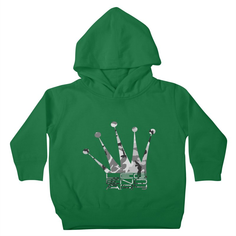 Legendary Crown - Snow Camo Edition Kids Toddler Pullover Hoody by uniquego's Artist Shop