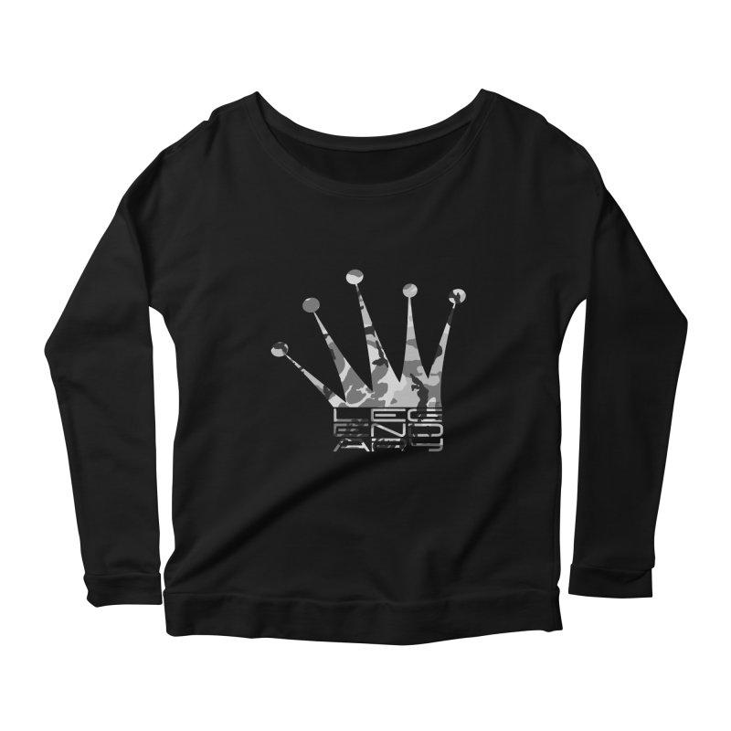 Legendary Crown - Snow Camo Edition Women's Scoop Neck Longsleeve T-Shirt by uniquego's Artist Shop