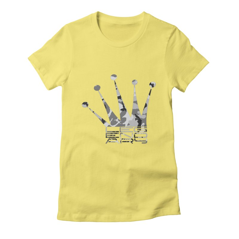 Legendary Crown - Snow Camo Edition Women's Fitted T-Shirt by uniquego's Artist Shop