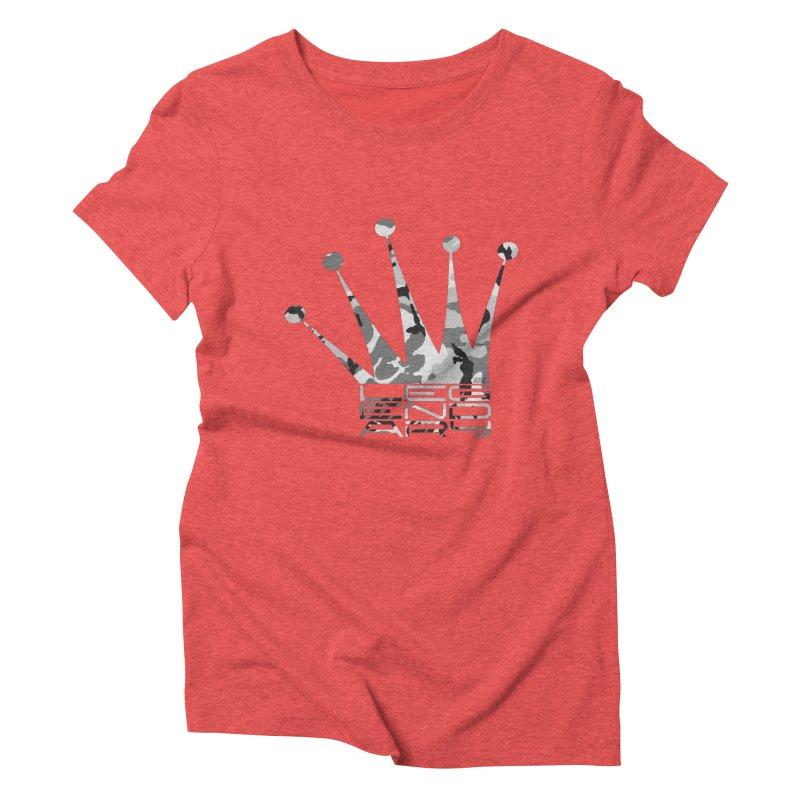 Legendary Crown - Snow Camo Edition Women's Triblend T-Shirt by uniquego's Artist Shop