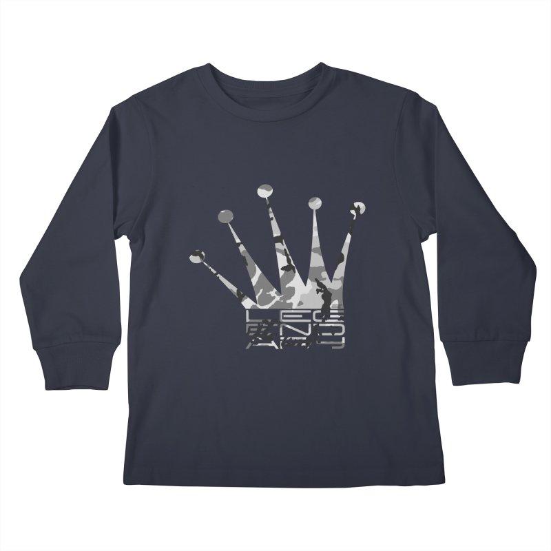 Legendary Crown - Snow Camo Edition Kids Longsleeve T-Shirt by uniquego's Artist Shop
