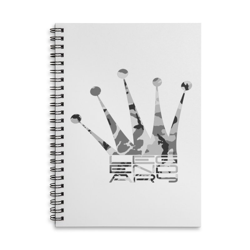 Legendary Crown - Snow Camo Edition Accessories Lined Spiral Notebook by uniquego's Artist Shop