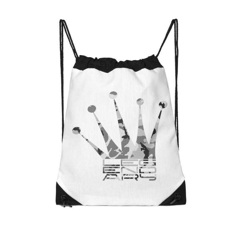 Legendary Crown - Snow Camo Edition Accessories Drawstring Bag Bag by uniquego's Artist Shop