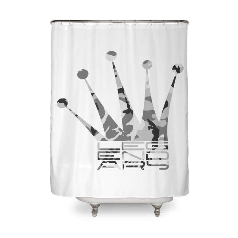 Legendary Crown - Snow Camo Edition Home Shower Curtain by uniquego's Artist Shop