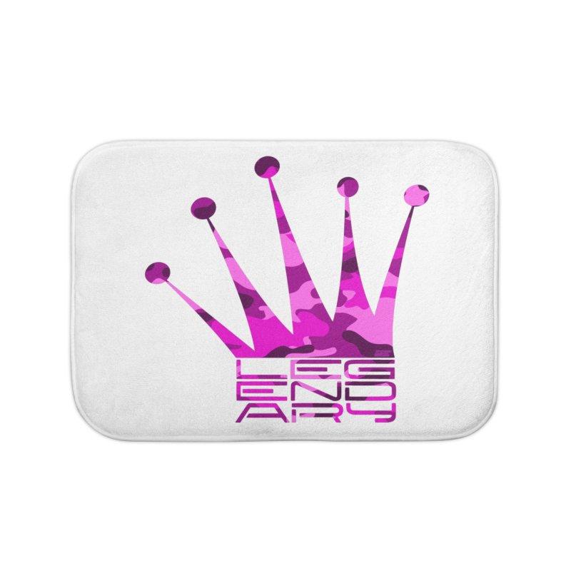 Legendary Crown - Pink Camo Edition Home Bath Mat by uniquego's Artist Shop
