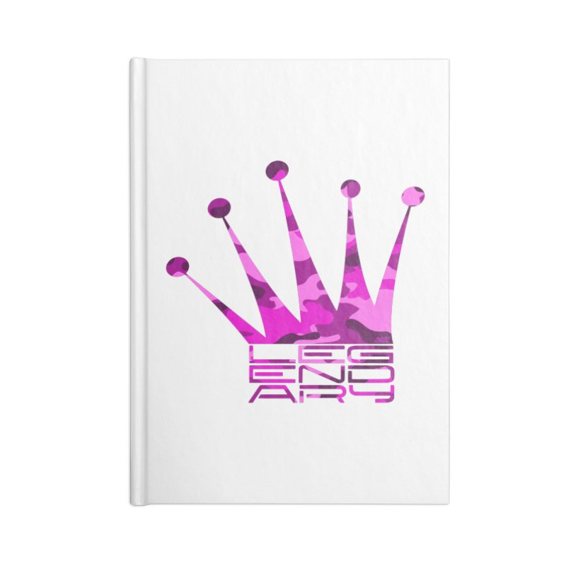 Legendary Crown - Pink Camo Edition Accessories Lined Journal Notebook by uniquego's Artist Shop