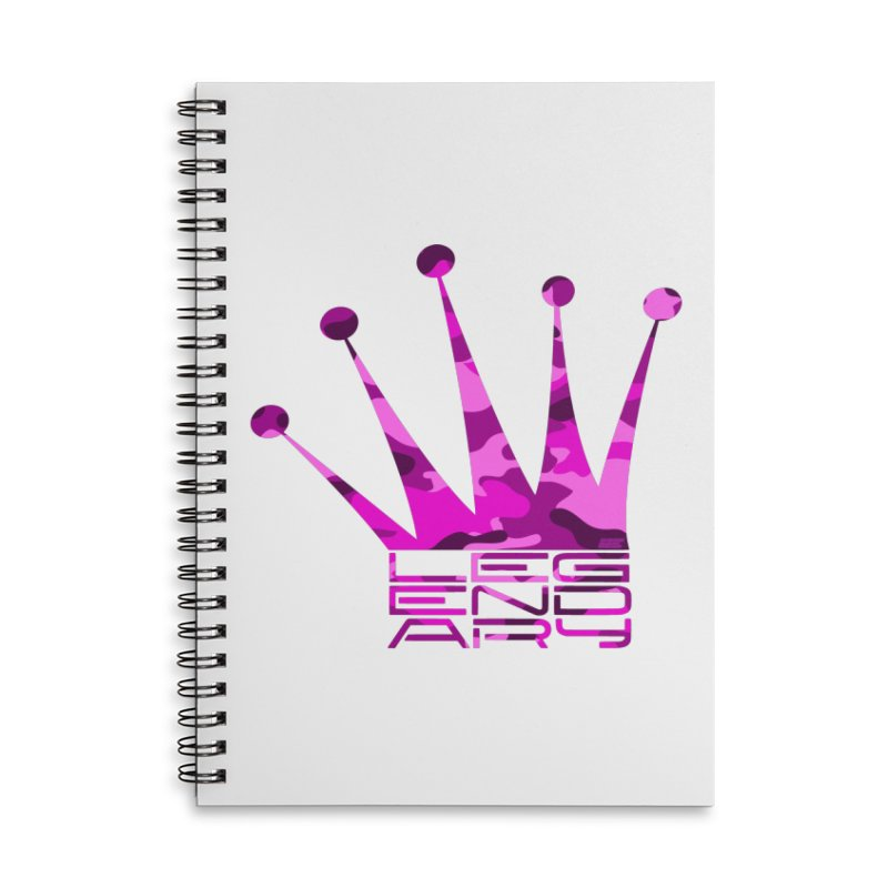 Legendary Crown - Pink Camo Edition Accessories Lined Spiral Notebook by uniquego's Artist Shop