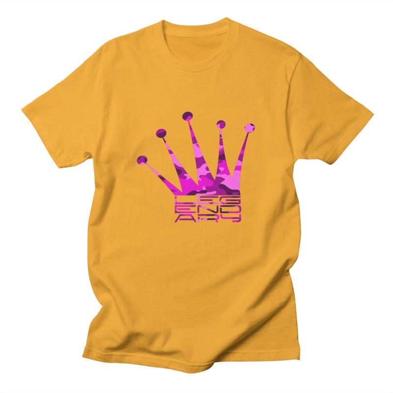 Legendary Crown - Pink Camo Edition Men's T-Shirt by uniquego's Artist Shop