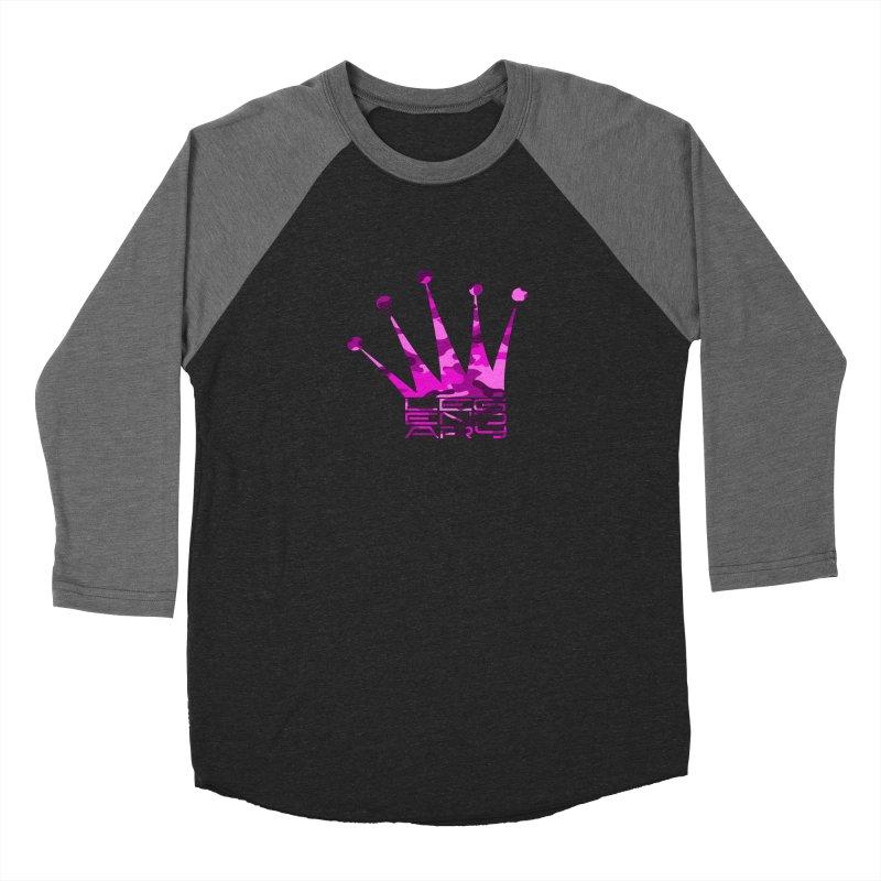 Legendary Crown - Pink Camo Edition Men's Baseball Triblend Longsleeve T-Shirt by uniquego's Artist Shop