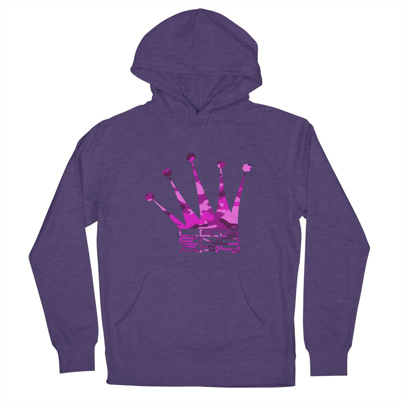 Legendary Crown - Pink Camo Edition Women's French Terry Pullover Hoody by uniquego's Artist Shop