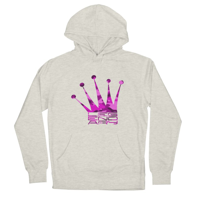 Legendary Crown - Pink Camo Edition Men's French Terry Pullover Hoody by uniquego's Artist Shop