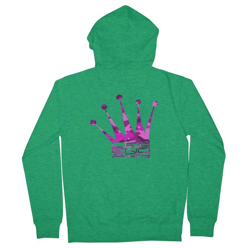 Legendary Crown - Pink Camo Edition Men's Zip-Up Hoody by uniquego's Artist Shop