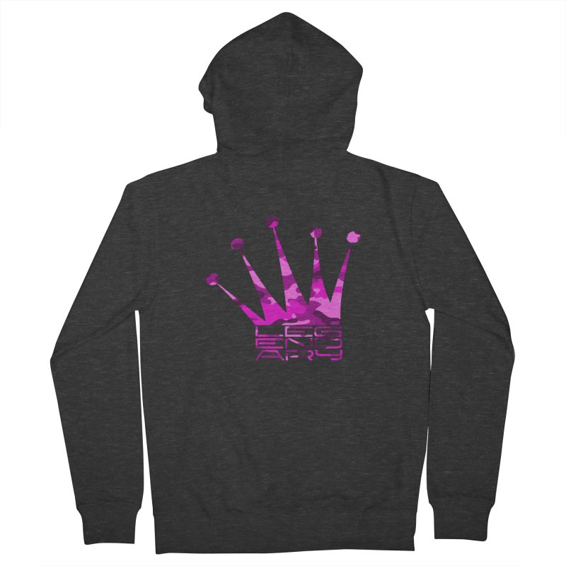 Legendary Crown - Pink Camo Edition Men's French Terry Zip-Up Hoody by uniquego's Artist Shop