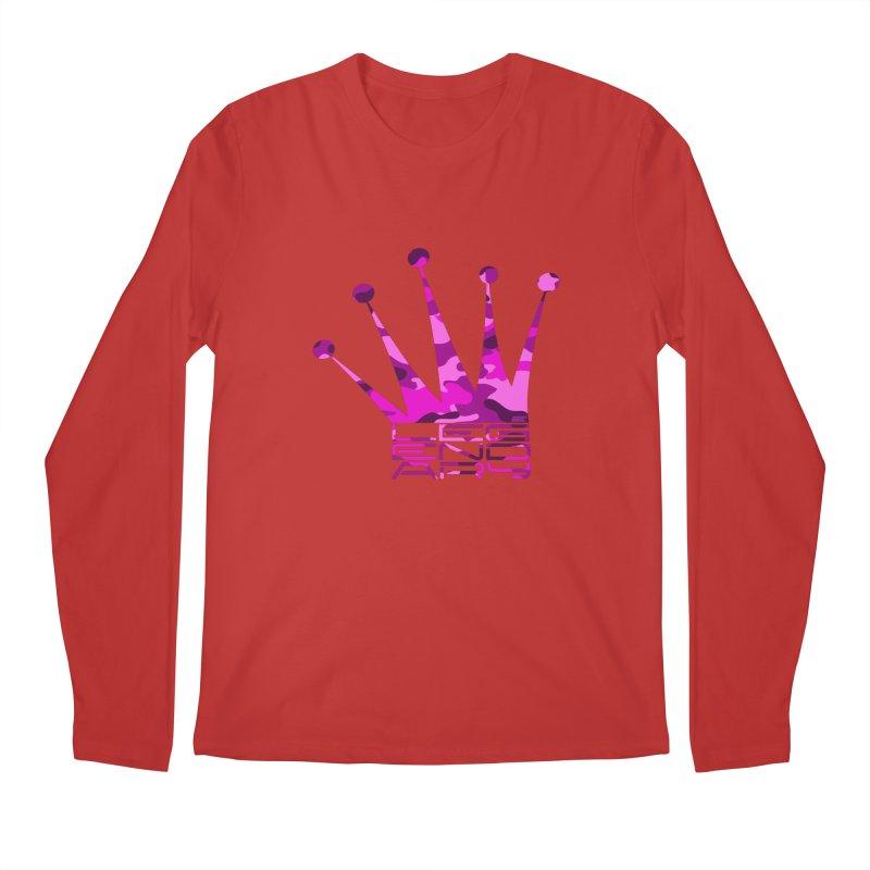 Legendary Crown - Pink Camo Edition Men's Longsleeve T-Shirt by uniquego's Artist Shop