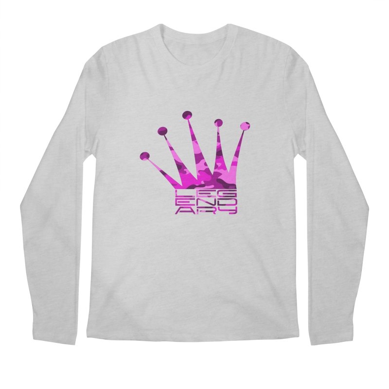 Legendary Crown - Pink Camo Edition Men's Regular Longsleeve T-Shirt by uniquego's Artist Shop