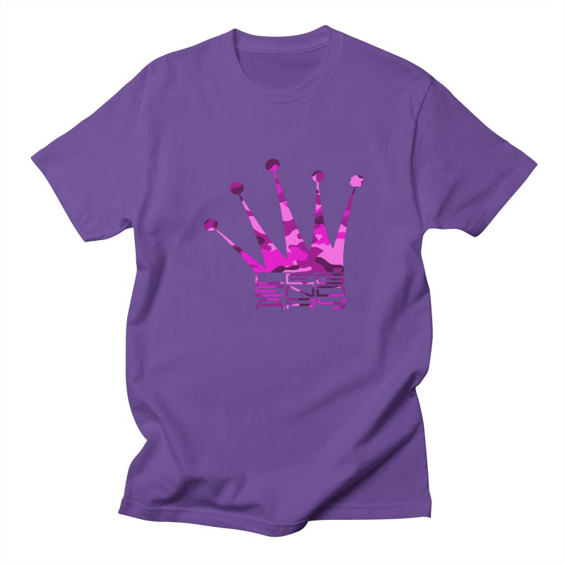 Legendary Crown - Pink Camo Edition Women's Regular Unisex T-Shirt by uniquego's Artist Shop