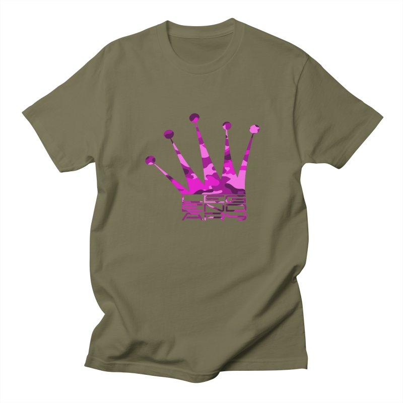 Legendary Crown - Pink Camo Edition Men's Regular T-Shirt by uniquego's Artist Shop