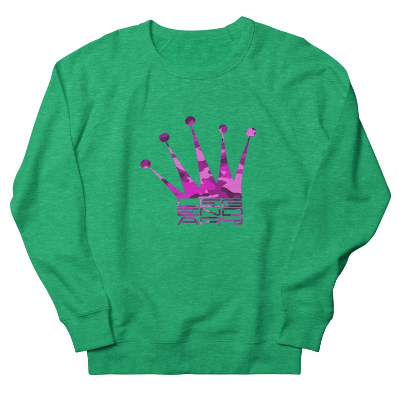 Legendary Crown - Pink Camo Edition Women's French Terry Sweatshirt by uniquego's Artist Shop