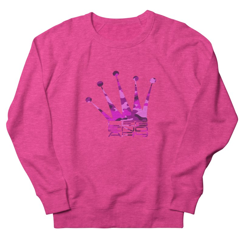 Legendary Crown - Pink Camo Edition Men's French Terry Sweatshirt by uniquego's Artist Shop