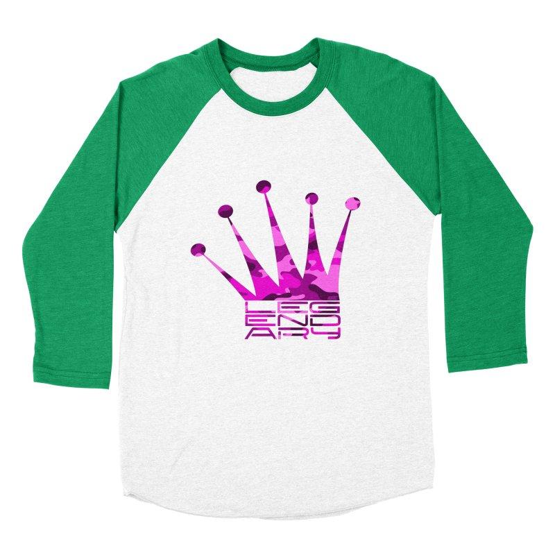 Legendary Crown - Pink Camo Edition Women's Baseball Triblend Longsleeve T-Shirt by uniquego's Artist Shop