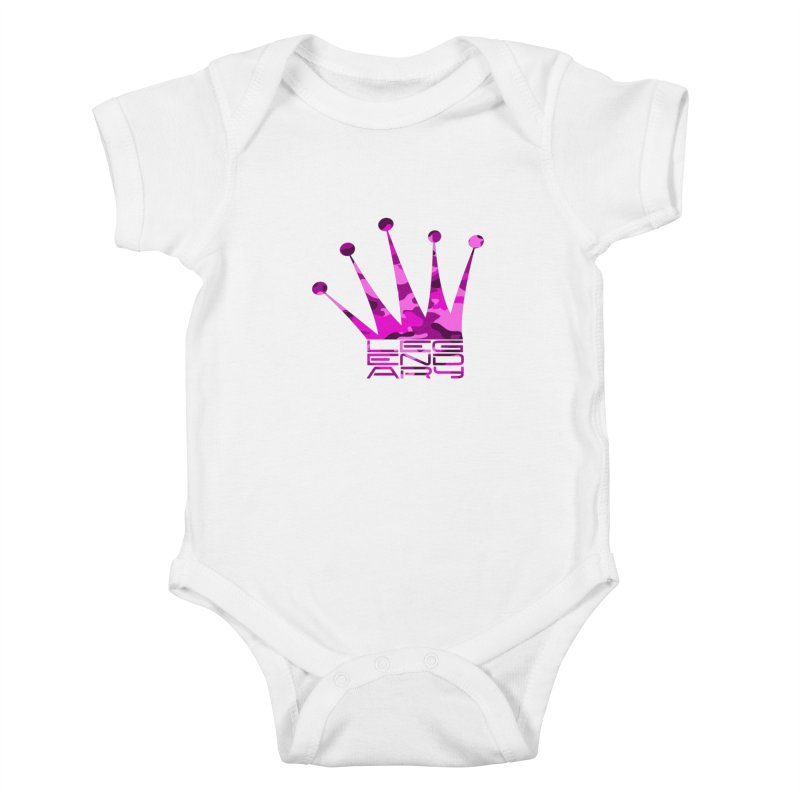 Legendary Crown - Pink Camo Edition Kids Baby Bodysuit by uniquego's Artist Shop