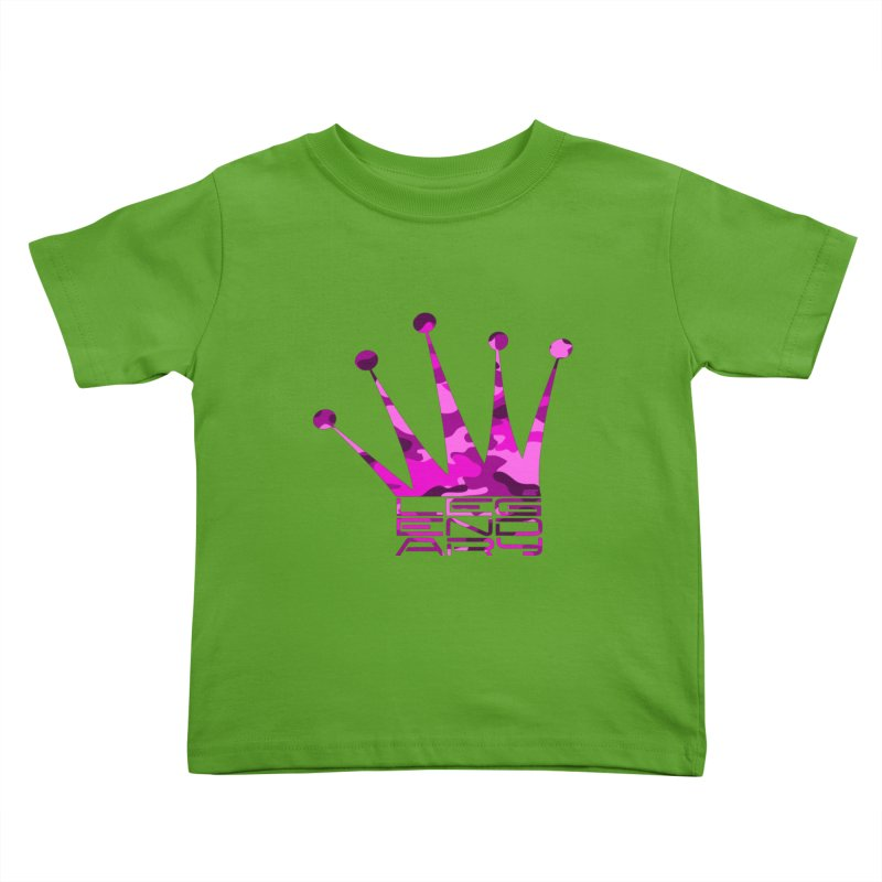 Legendary Crown - Pink Camo Edition Kids Toddler T-Shirt by uniquego's Artist Shop