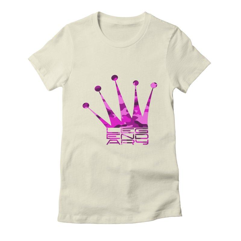 Legendary Crown - Pink Camo Edition Women's T-Shirt by uniquego's Artist Shop