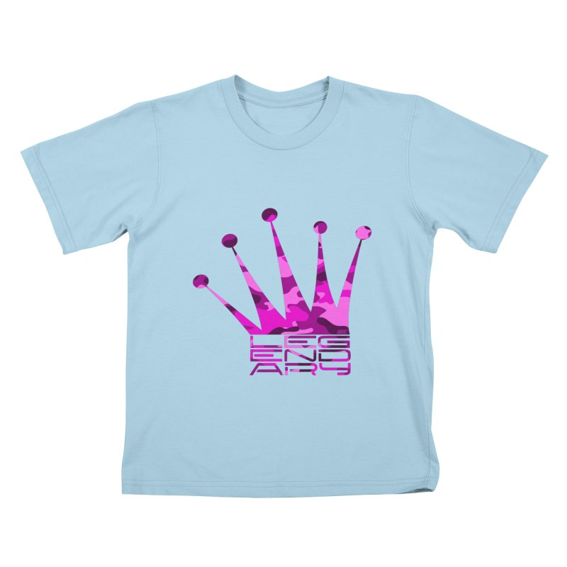 Legendary Crown - Pink Camo Edition Kids T-Shirt by uniquego's Artist Shop
