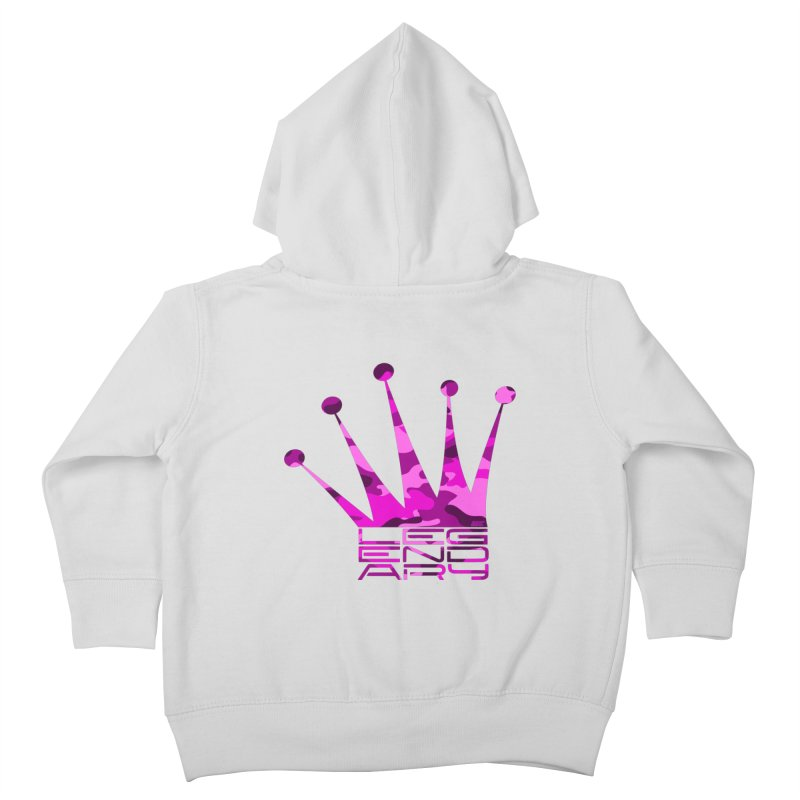 Legendary Crown - Pink Camo Edition Kids Toddler Zip-Up Hoody by uniquego's Artist Shop