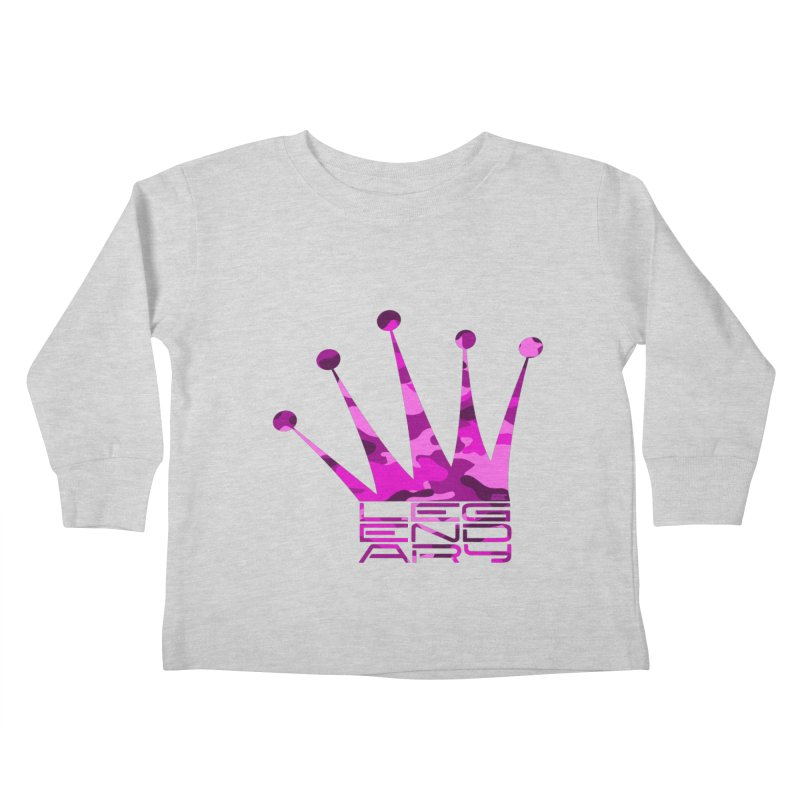 Legendary Crown - Pink Camo Edition Kids Toddler Longsleeve T-Shirt by uniquego's Artist Shop