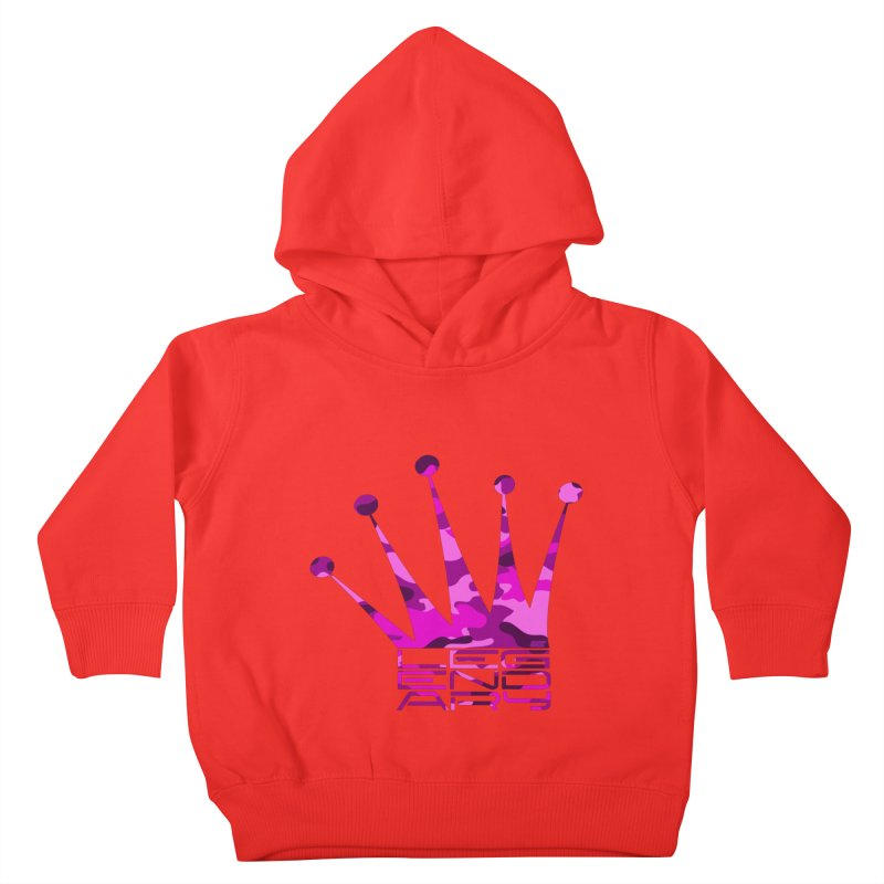 Legendary Crown - Pink Camo Edition Kids Toddler Pullover Hoody by uniquego's Artist Shop