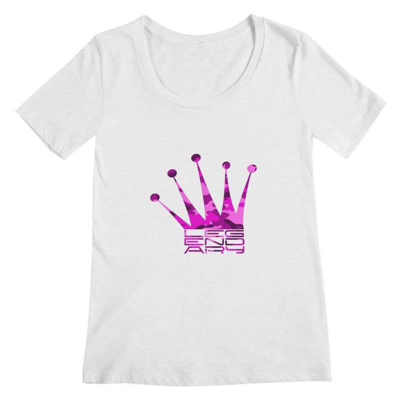 Legendary Crown - Pink Camo Edition Women's Regular Scoop Neck by uniquego's Artist Shop
